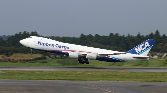 Nobu-oji_NEXUS6さんが、成田国際空港で撮影した日本貨物航空 747-8KZF/SCDの航空フォト(飛行機 写真・画像)