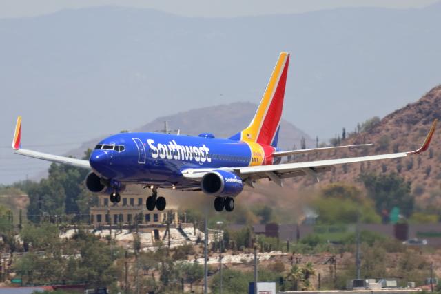 キャスバルさんが、フェニックス・スカイハーバー国際空港で撮影したサウスウェスト航空 737-73Vの航空フォト(飛行機 写真・画像)