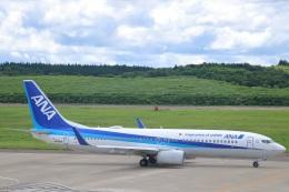 ぽっぽさんが、大館能代空港で撮影した全日空 737-881の航空フォト(飛行機 写真・画像)