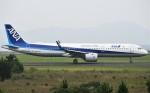 鉄バスさんが、広島空港で撮影した全日空 A321-272Nの航空フォト(飛行機 写真・画像)