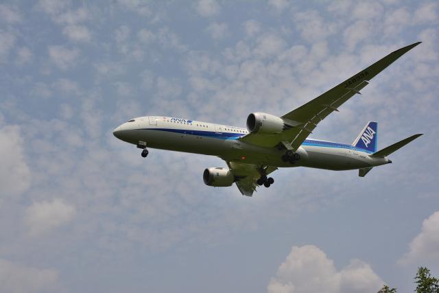 HS888さんが、鹿児島空港で撮影した全日空 787-9の航空フォト(飛行機 写真・画像)