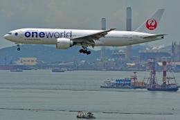 Souma2005さんが、香港国際空港で撮影した日本航空 777-246/ERの航空フォト(飛行機 写真・画像)