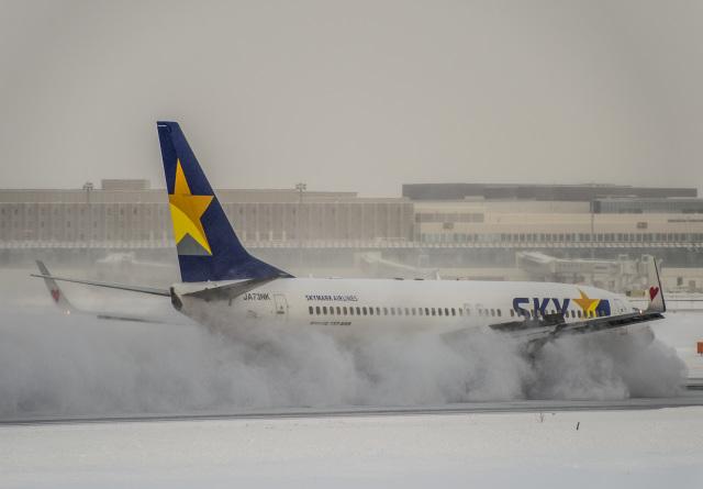 Cygnus00さんが、新千歳空港で撮影したスカイマーク 737-86Nの航空フォト(飛行機 写真・画像)