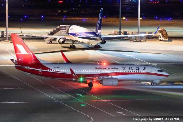 kina309さんが、羽田空港で撮影した上海航空 737-89Pの航空フォト(飛行機 写真・画像)