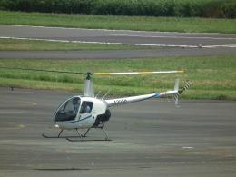 ヒコーキグモさんが、岡南飛行場で撮影した学校法人ヒラタ学園 航空事業本部 R22 Beta IIの航空フォト(飛行機 写真・画像)