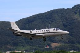 しょうせいさんが、岡南飛行場で撮影した岡山航空 560 Citation Ultraの航空フォト(飛行機 写真・画像)
