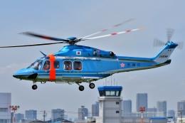 ブルーさんさんが、東京ヘリポートで撮影した警視庁 AW139の航空フォト(飛行機 写真・画像)