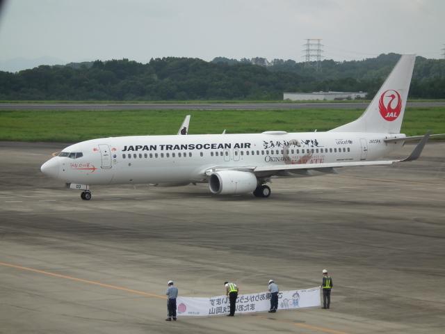 ヒコーキグモさんが、岡山空港で撮影した日本トランスオーシャン航空 737-8Q3の航空フォト(飛行機 写真・画像)