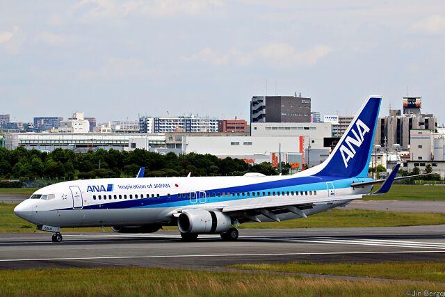 Jin Bergqiさんが、伊丹空港で撮影した全日空 737-881の航空フォト(飛行機 写真・画像)