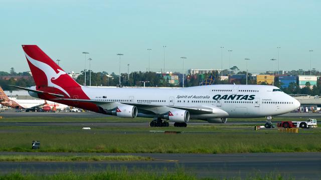 FlyingMonkeyさんが、シドニー国際空港で撮影したカンタス航空 747-438/ERの航空フォト(飛行機 写真・画像)