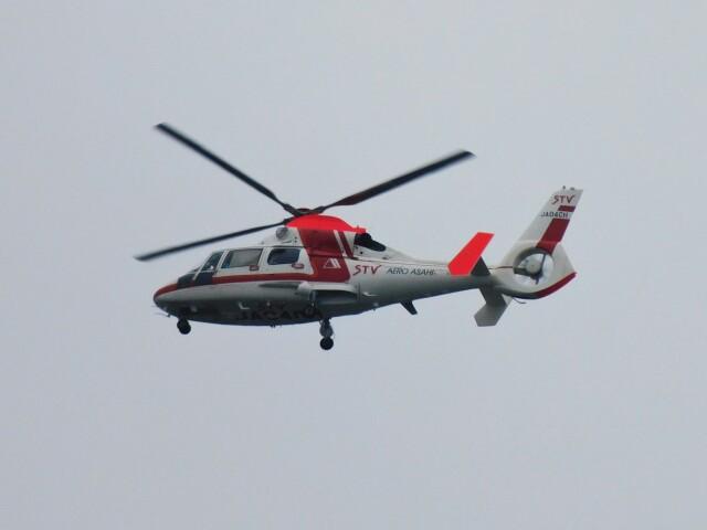 tetuさんが、札幌飛行場で撮影した朝日航洋 AS365N3 Dauphin 2の航空フォト(飛行機 写真・画像)