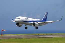 じーのさんさんが、八丈島空港で撮影した全日空 A320-271Nの航空フォト(飛行機 写真・画像)