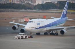 竹林 義弘さんが、福岡空港で撮影した全日空 747-481(D)の航空フォト(飛行機 写真・画像)