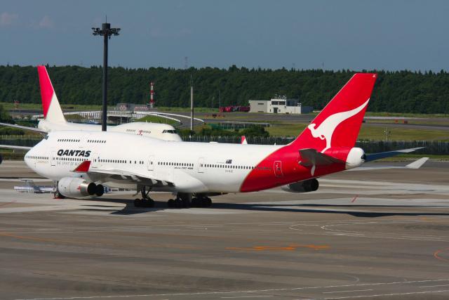 inyoさんが、成田国際空港で撮影したカンタス航空 747-438の航空フォト(飛行機 写真・画像)