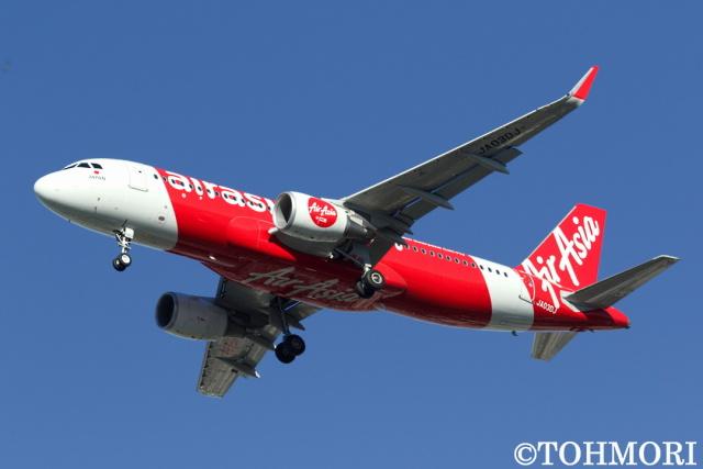 遠森一郎さんが、福岡空港で撮影したエアアジア・ジャパン A320-216の航空フォト(飛行機 写真・画像)