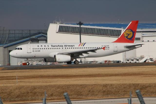 kahluamilkさんが、成田国際空港で撮影したトランスアジア航空 A320-232の航空フォト(飛行機 写真・画像)