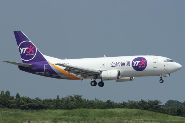 ホタテ㌠さんが、成田国際空港で撮影したYTOカーゴ・エアラインズ 737-37Kの航空フォト(飛行機 写真・画像)