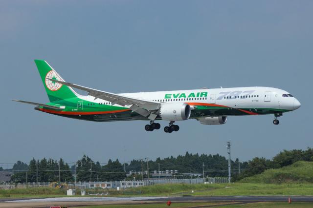 ホタテ㌠さんが、成田国際空港で撮影したエバー航空 787-9の航空フォト(飛行機 写真・画像)
