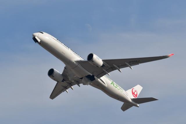 バークレーの犬さんが、福岡空港で撮影した日本航空 A350-941の航空フォト(飛行機 写真・画像)