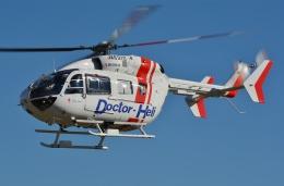 ブルーさんさんが、群馬ヘリポートで撮影した朝日航洋 BK117C-2の航空フォト(飛行機 写真・画像)