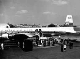 Y.Todaさんが、羽田空港で撮影した日本航空 DC-7C Seven Seasの航空フォト(飛行機 写真・画像)