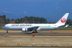 Kuuさんが、鹿児島空港で撮影した日本航空 767-346/ERの航空フォト(飛行機 写真・画像)