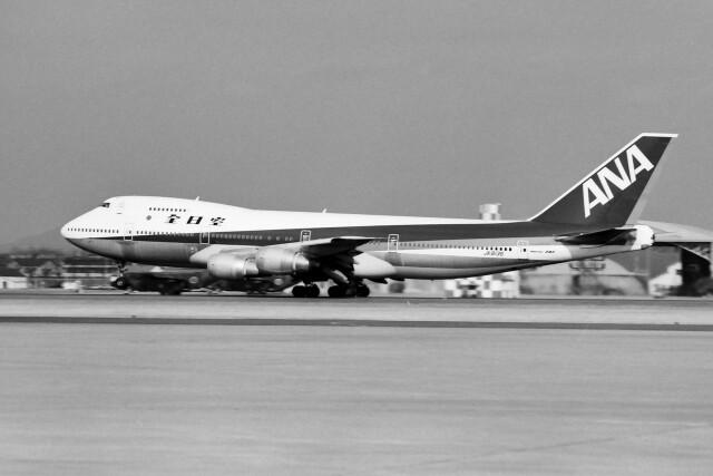 ハミングバードさんが、名古屋飛行場で撮影した全日空 747SR-81の航空フォト(飛行機 写真・画像)