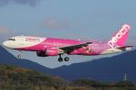 いおりさんが、福岡空港で撮影したピーチ A320-214の航空フォト(飛行機 写真・画像)