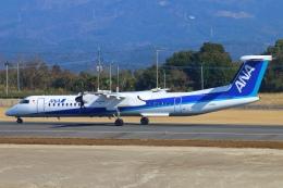 Kuuさんが、鹿児島空港で撮影したANAウイングス DHC-8-402Q Dash 8の航空フォト(飛行機 写真・画像)
