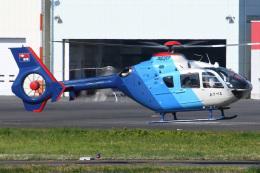 ほてるやんきーさんが、東京ヘリポートで撮影した中日新聞社 EC135P2の航空フォト(飛行機 写真・画像)