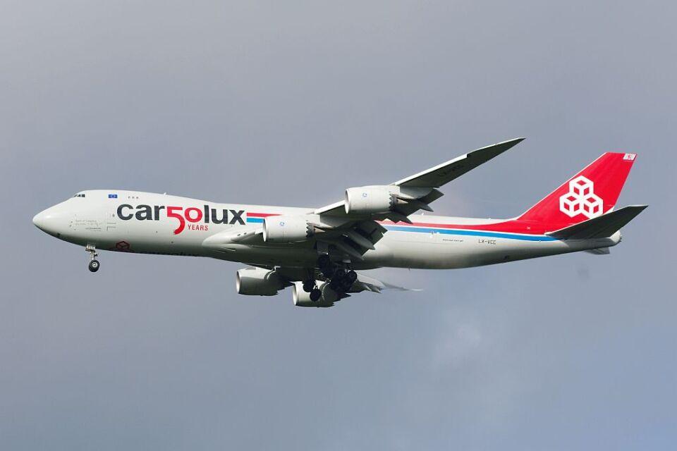 ladyinredさんのカーゴルクス Boeing 747-8 (LX-VCC) 航空フォト