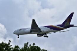 うめたろうさんが、シンガポール・チャンギ国際空港で撮影したタイ国際航空 777-2D7の航空フォト(飛行機 写真・画像)