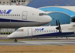 ふじいあきらさんが、伊丹空港で撮影したエアーニッポンネットワーク DHC-8-402Q Dash 8の航空フォト(飛行機 写真・画像)