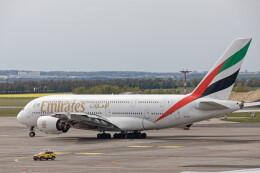 Airliners Freakさんが、ヴァーツラフ・ハヴェル・プラハ国際空港で撮影したエミレーツ航空 A380-861の航空フォト(飛行機 写真・画像)