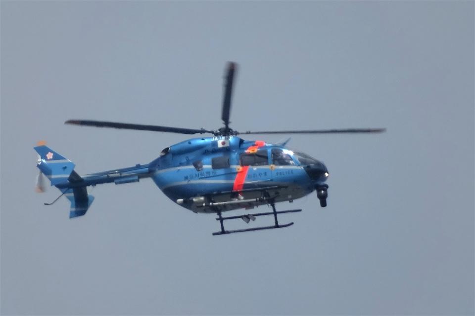 レドームさんの神奈川県警察 Kawasaki BK117 (JA16KP) 航空フォト