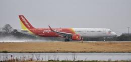 スキマ特急さんが、米子空港で撮影したベトジェットエア A321-271Nの航空フォト(飛行機 写真・画像)