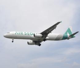 スキマ特急さんが、米子空港で撮影したエアソウル A321-231の航空フォト(飛行機 写真・画像)