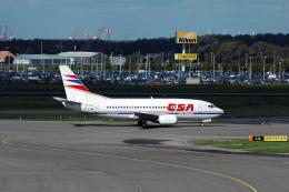 Gambardierさんが、アムステルダム・スキポール国際空港で撮影したチェコ航空 737-55Sの航空フォト(飛行機 写真・画像)