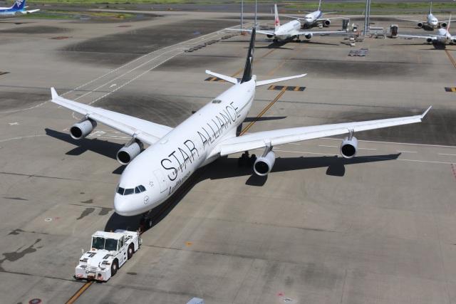 航空フォト:D-AIFF ルフトハンザドイツ航空 A340-300