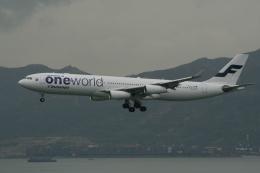 hachiさんが、香港国際空港で撮影したフィンエアー A340-313Xの航空フォト(飛行機 写真・画像)