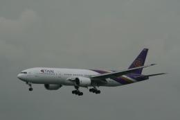hachiさんが、香港国際空港で撮影したタイ国際航空 777-2D7の航空フォト(飛行機 写真・画像)