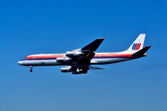 パール大山さんが、ロサンゼルス国際空港で撮影したユナイテッド航空 DC-8-54AF Jet Traderの航空フォト(飛行機 写真・画像)
