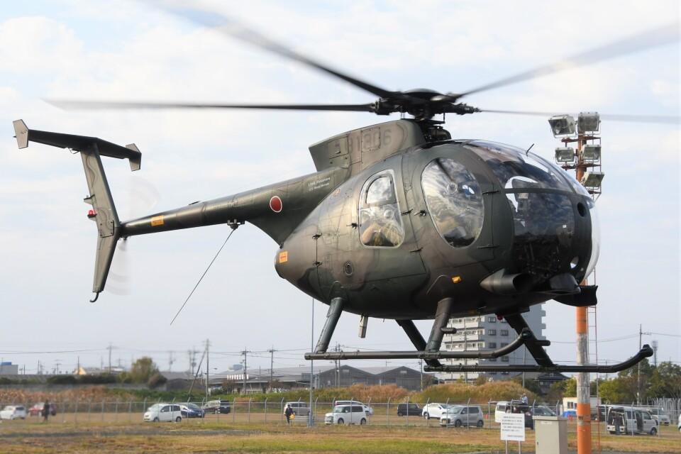 ほてるやんきーさんの陸上自衛隊 Kawasaki OH-6D (31306) 航空フォト