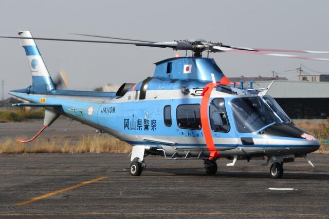 ほてるやんきーさんが、岡南飛行場で撮影した岡山県警察 A109E Powerの航空フォト(飛行機 写真・画像)