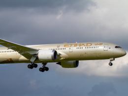 Mame @ TYOさんが、成田国際空港で撮影したエティハド航空 787-9の航空フォト(飛行機 写真・画像)