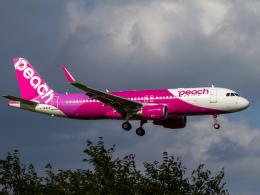 Mame @ TYOさんが、成田国際空港で撮影したピーチ A320-214の航空フォト(飛行機 写真・画像)