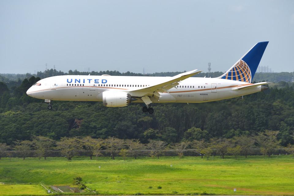 mojioさんのユナイテッド航空 Boeing 787-8 Dreamliner (N26906) 航空フォト