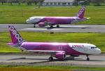 mojioさんが、成田国際空港で撮影したピーチ A320-214の航空フォト(飛行機 写真・画像)