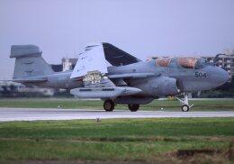 F-4さんが、厚木飛行場で撮影したアメリカ海軍 EA-6B Prowler (G-128)の航空フォト(飛行機 写真・画像)