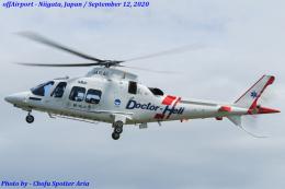Chofu Spotter Ariaさんが、新潟県新潟市中央区で撮影した静岡エアコミュータ AW109SP GrandNewの航空フォト(飛行機 写真・画像)
